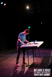 Urban – one of YAX's Digibeats students and Youth Advisory Board member – shows off his skills