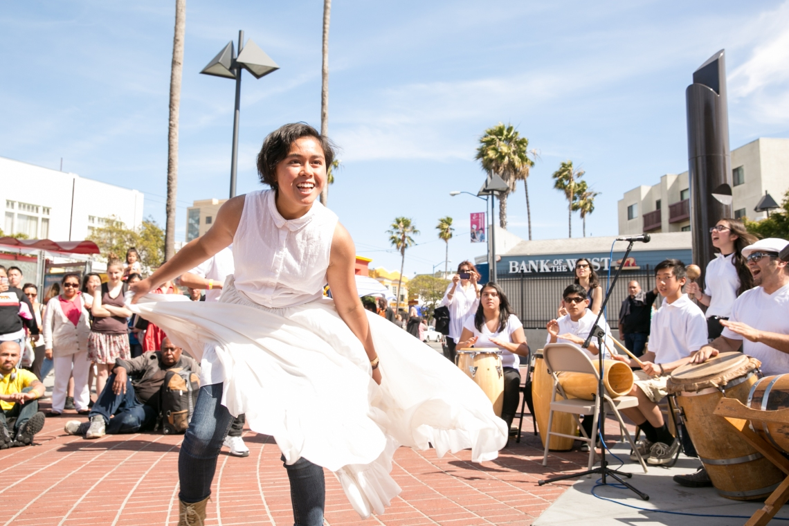 Performance at 24th St BART, June 20, 2014