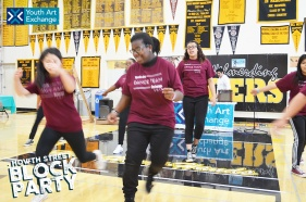 Dancers showing off their footwork