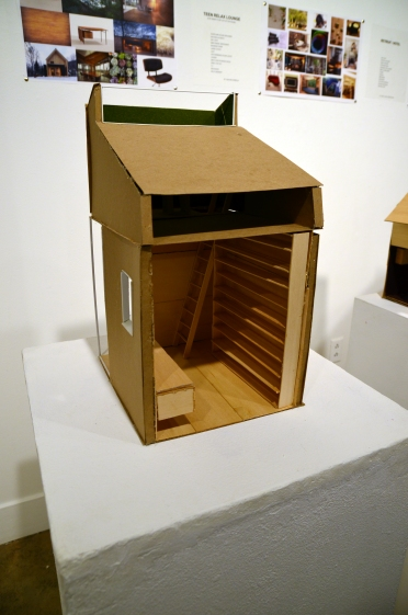 Tiny house models created by YAX architecture interns at YAXhibtion: ART(S)MASH 2017