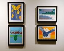 Work from YAX's printmaking interns at YAXhibtion: ART(S)MASH 2017
