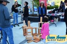 wooden blocks at Ocean Avenue Block Party