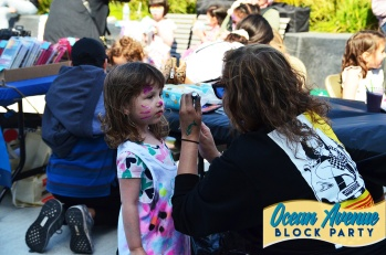 facepainting at Ocean Avenue Block Party