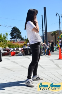 Youth Art Exchange dance solo at Ocean Avenue Block Party