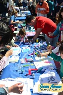 crafting at Ocean Avenue Block Party