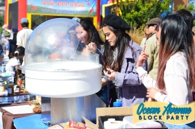 Cotton candy making at Ocean Avenue Block Party