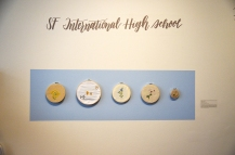SF International High School display at New Growth: Vibrant Voices